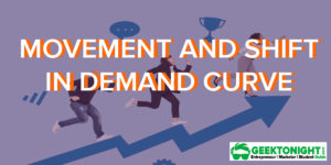 Movement and Shift In Demand Curve