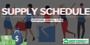 What is Supply Schedule? Definition, Types, Example