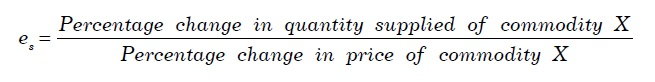 Elasticity of Supply Formula