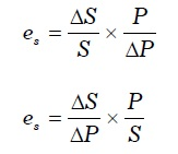 Formula for Elasticity of Supply