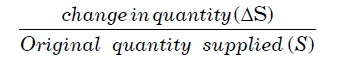Formula Elasticity of Supply