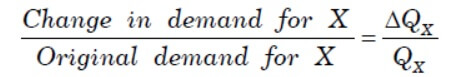 Cross Elasticity of Demand Formula 1