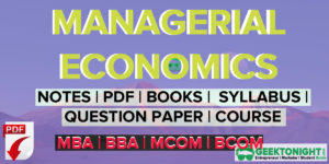 Managerial Economics Notes | PDF, Books, Paper, Syllabus | MBA 2020