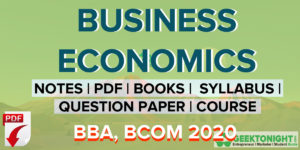 Business Economics Notes | PDF, Paper, Books, Syllabus, | BBA, BCOM 2020
