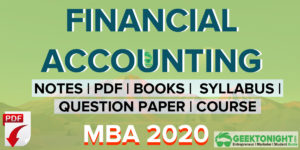Financial Accounting Notes | PDF, Syllabus | MBA 2021
