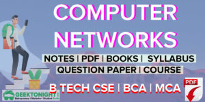 Computer Networks Notes | PDF, Syllabus, Books | B Tech 2020