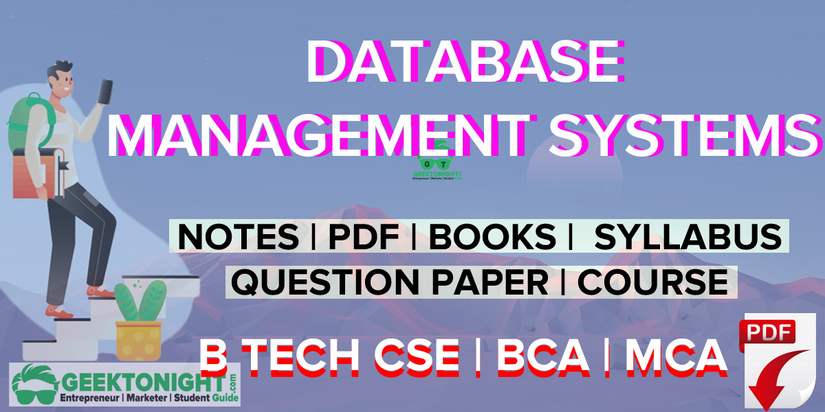 Database Management Systems Notes | PDF, Syllabus, Book | B Tech 2020