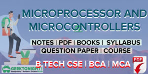 Microprocessor And Microcontroller Notes | PDF | B Tech 2020