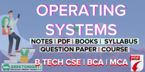 Operating Systems Notes | PDF, Book, Syllabus | B Tech [2021]