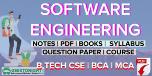 Software Engineering Notes | PDF, Syllabus, Books | B Tech 2020