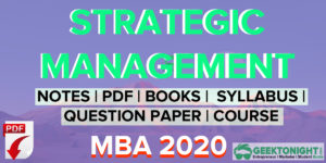 Strategic Management Notes | PDF, Paper, Syllabus | MBA 2020