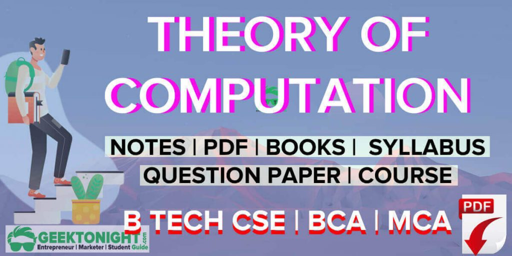 Theory of Computation Notes