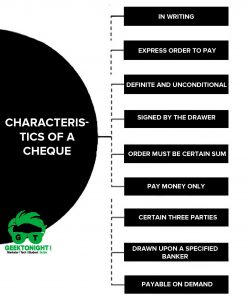 What is Cheque? Definition, Characteristics, Types, Parties